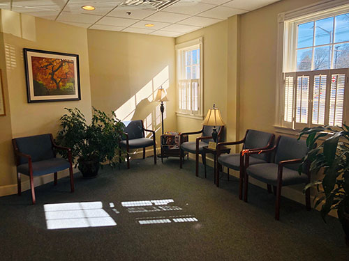 Large comfortable patient waiting room